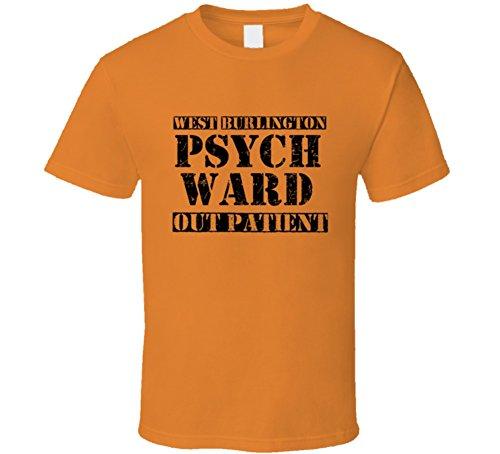 Burlington Halloween Costumes (West Burlington Iowa Psych Ward Funny Halloween City Costume Funny T Shirt L Orange)