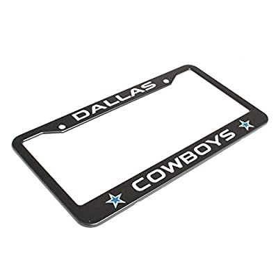 2Pcs Matte Black Danas cowboy Stainless Steel License for JEEP, Mercedes Benz, Chrysler ,Toyota Honda ,Nissan ,Kia ,Hyundai ,Chevrolet , Cadillac, Subaru, GMC, Ford, etc Fit for all brands of cars: Automotive