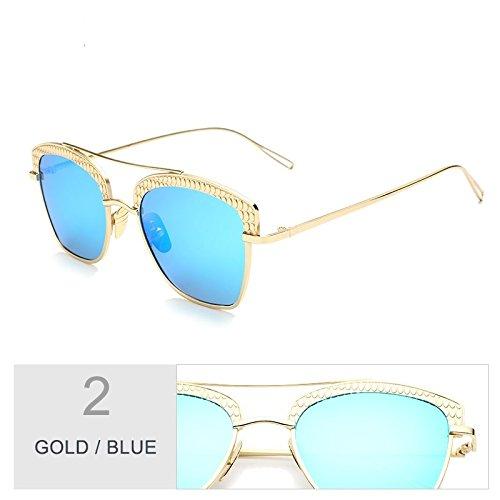 Marco Uv400 Gafas De Gold Mujeres Polarizadas Gris Metal De Hombres A Sol Gafas De Blue Gafas Con De Los De Sol Sol De Oro Unisex TIANLIANG04 Espejo Guiar Para Gafas 5gq8BB