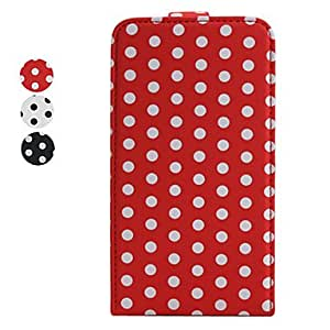 Spot Pattern Leather Case with Back Cover for Samsung i9100 --- COLOR:Red