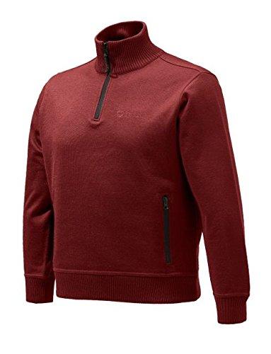Beretta BEPU421T12010321L Techno windshield Half Zip Jacket, Tango Red, Large by Beretta (Image #1)