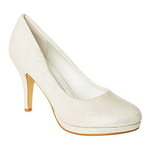 Zapatos Vestir Diva Ivory Para Miss De Mesh Mujer vwOxq5Ua