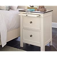Woodanville Two Drawer Night Stand White/Brown/Casual