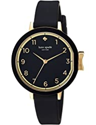 kate spade new york Womens Park Row Quartz Stainless Steel and Silicone Casual Watch, Color:Black (Model: KSW1352)