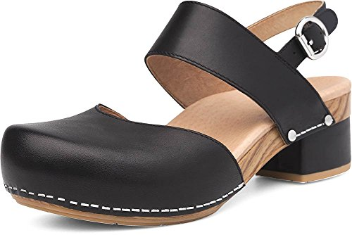 - Dansko Women's Malin Sandal Black Full Grain 38 Medium EU (7.5-8 US)