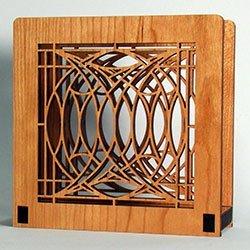 (Frank Lloyd Wright BLOSSOM HOUSE Design Laser Cut Wood Napkin Holder)