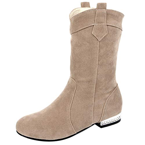 Beige Pull Coolcept Comfort Women Boots Heel Short Low On H8RUY8Bn