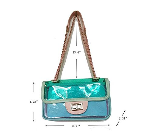bandoulière sac Summer embrayage Women Color Transparent à main à main Cross Sac main PVC à Gelée sac White 's sac à 0Wx65qn