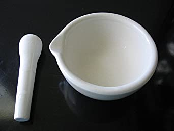 Beyondsupply-Lab porcelain mortar and pestle lab kitchen pharmacy spice 100mm new