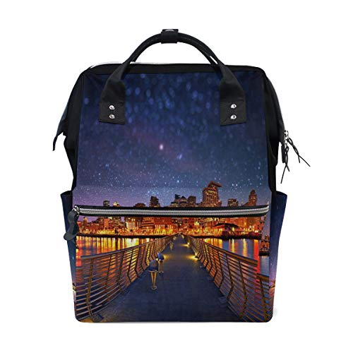 Fashion Diaper Bags Mummy Backpack City Night Multi Functions Large Capacity Nappy Bag Nursing Bag for Baby Care for Traveling