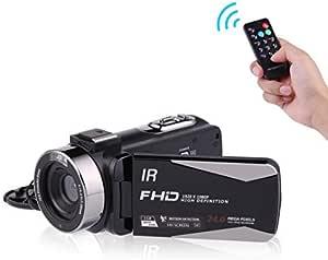 MELCAM Videoc/ámara 1080P 36MP Camcorder IR Visi/ón Nocturna Youtube Vlog C/ámara Web 3.0 Pantalla IPS 16X Zoom Digital con Control Remoto