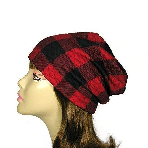 Buffalo Check Slouch Hat Unisex Buffalo Plaid Beanie Buffalo Plaid Lined  Reversible Slouchy Beanie Lumberjack Hats Mens Buffalo Plaid Hats Custom  Sizes and ... 55e3e5ce0ff