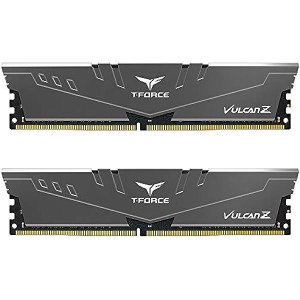 TEAMGROUP TForce Vulcan Z DDR GB Kit x GB MHz PC CL Desktop Memory Module Ram Gray TLZGD G HC CDC