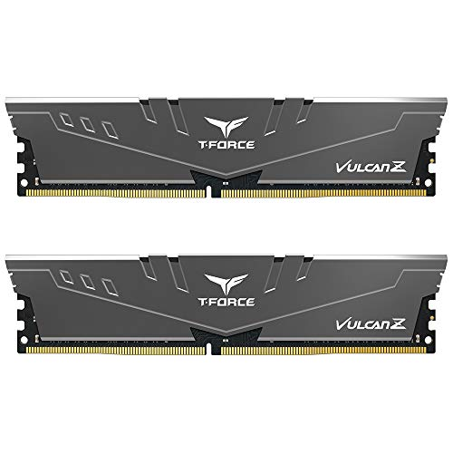 TEAMGROUP T-Force Vulcan Z DDR4 16GB Kit (2 x 8GB) 3000MHz (PC4 24000) CL16 Desktop Memory Module Ram – Gray – TLZGD416G3000HC16CDC01