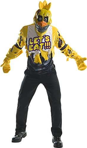 Rubie's Men's Five Nights at Freddy's Deluxe Nightmare Chica Costume, As Shown, -