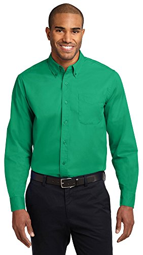 (Port Authority Long Sleeve Easy Care Shirt, Court Green, X-Large)