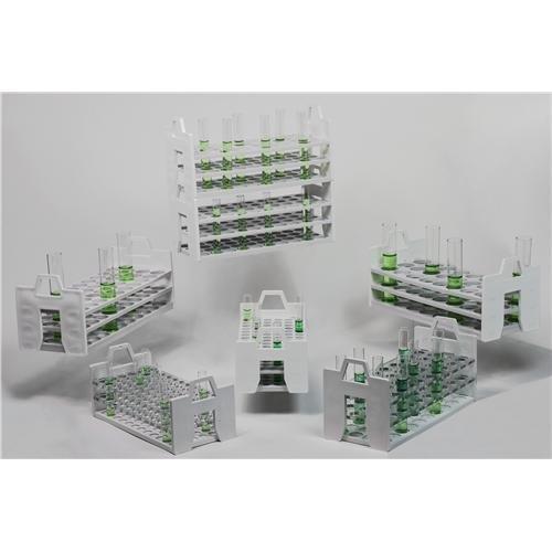 29.7 cm Length 24 Place 13.3 cm Height Bel-Art F18860-2630 Science Ware Stack Rack Test Tube Rack for 25-30 mm Tube Size 12.7 cm Wide Polypropylene Pack of 4