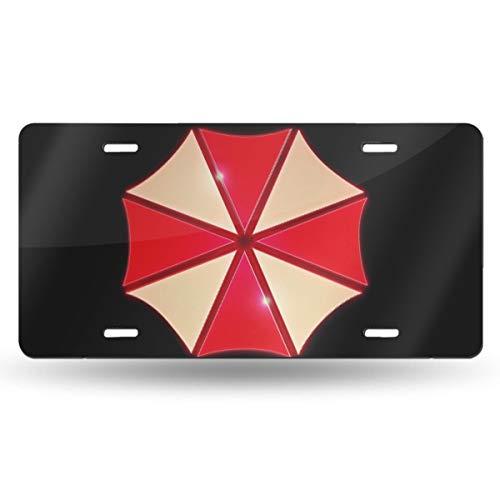 Aruba Z Legend 3D Umbrella Corp Emblem Custom Personalized Metal License Plate USA Car Tag Novelty Tag Vehicle Auto Car Initial Front License Auto Tag