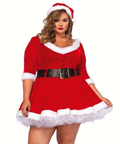 (3 PC. Ladies Miss Santa Dress - 1XL/2XL -)