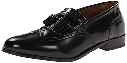 Florsheim Men's Brinson Kiltie Tassel Slip-On Loafer, Black, 10.5 D US