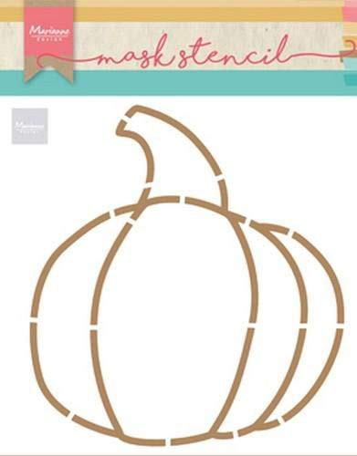 (Marianne Design Mask Stencil Pumpkin by Marleen for Scrapbooking, Cardmaking and Other Papercrafts, Light Blue,)