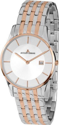 Jacques Lemans London 1-1781E 38mm Rose Gold Tone Case Rose Gold Rose Gold Mineral Men's & Women's Watch