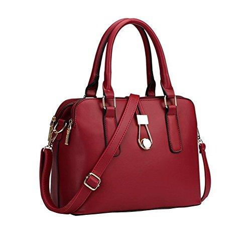 YipGrace Donna Matrimonio Nuziale Tote Handbag Borsa A Tracolla Business Bag Spalla Borsa Vino Rossa