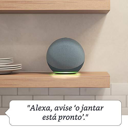 Novo Echo (4ª Geração): Com som premium, hub de casa inteligente e Alexa - Cor Azul