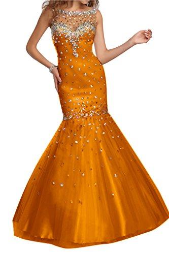 Steine Stil Tuell Orange Abendkleid Damen Ivydressing Meerjungfrau OSqIIg