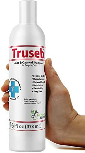 Truseb   #1 Natural Oatmeal and Aloe Shampoo & Moisturizer for Dog and Cats Hypoallergenic And Soap Free Shampoo With Natural Oils And Aloe For Dogs, Cats with Dry, Itchy, Skin & Allergies Made in USA