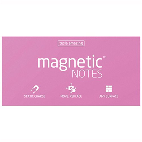 Tesla Amazing Magnetic Notes Size L Large 200mm x 100mm - Pink