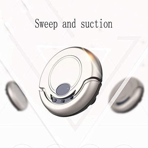 CHUTD Robot de Nettoyage, nettoyeurs domestiques intelligents, Nettoyeur de Machine de Balayage Polyvalent, aspirateur Silencieux Bleu (Couleur: Rose) Gold