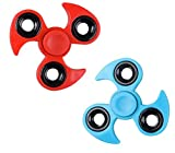 "2 Pack of 3"" Ninja Fidget Hand Spinner Toys for ADD, ADHD, Stress & Anxiety Relief (Spins Extra Fast) by Bottles N Bags"