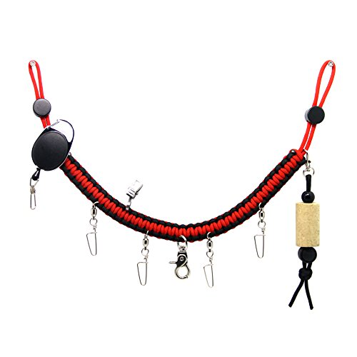 SAMSFX Fly Fishing Lanyard Necklace Wader Neck Strap Hand Woven 550 Braided Paracord