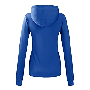 REGNA X Bother Womens running slim kangaroo pocket full zip up hooded jacket
