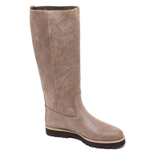 Beige woman H259 shoe ROUTE alto donna HOGAN beige stivale boot Scuro B8527 scarpa scuro qFfwPc7Zx