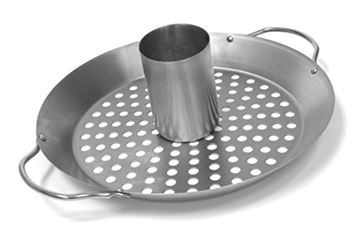 Charcoal Companion CC3097 Stainless Convertible Wok/Vertical Poultry Rack ()
