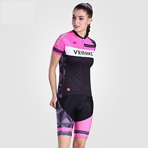 コンプリート価値石炭サイクルジャージ 上下セット レディース 夏用 サイクリングウェア 女性用 自転車ウェア 速乾吸汗通気 小物入れバックポケット 反射テープ付き UVカット S~XXLサイズ展開