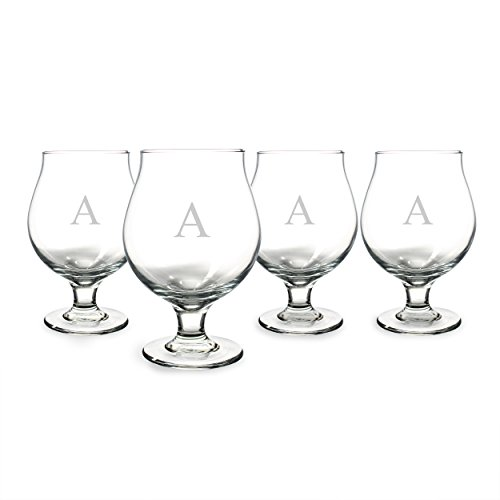 UPC 694546982809, Cathy's Concepts Personalized Belgian Beer Glasses, Set of 4, Letter A