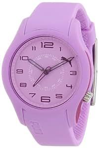 Puma Time - Reloj analógico de cuarzo para mujer con correa de plástico, color morado claro