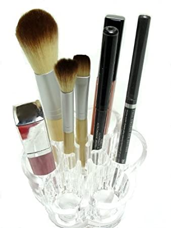 flower cosmetic and makeup brush holder organizer