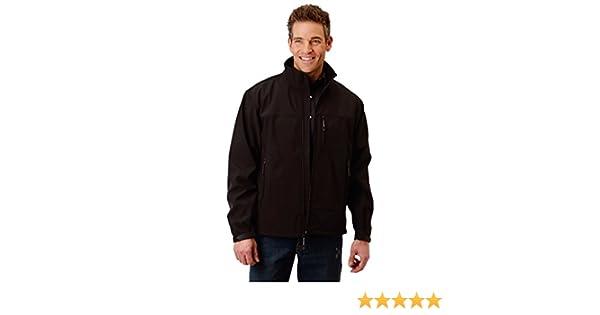 ROPER Textured Mens Black Polyester Hi Tech Fleece Jacket