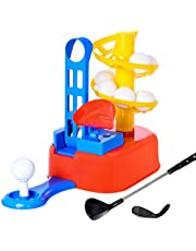 WishaLife Kids Golf, Kids Golf Clubs, Toddler Golf, Kids Golf Set, Toy Golf, Toddler Golf Set, Kids Sports Toys, Toy Golf Clubs, Early Educational, Outdoors Exercise Toy for Kids, Boys, Girls