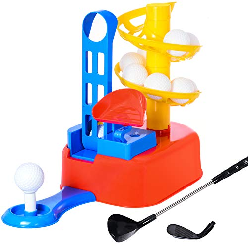 WishaLife Kids Golf, Toddler Golf, Kids Golf Set, Toy Golf, Toddler Golf Set, Kids Sports Toys, Toy Golf Clubs, Outside Games, Early Educational, Outdoors Exercise Toy for Kids, Boys, Girls ()