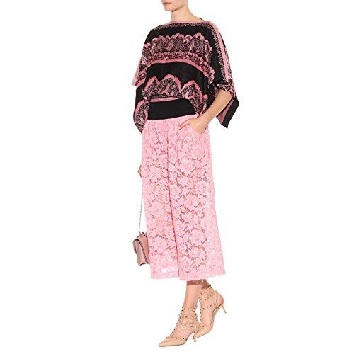 Chris-T Damen Riemchen mit Sandalen mit Riemchen Nieten Studs Schnalle Slingback Kitten Heel Studded Nieten Kleid Pumps Nude Pattern/Gold Stud/Blau Stone 96f094