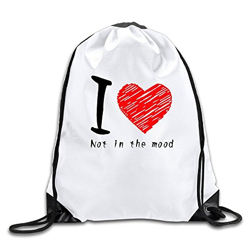 FOODE I Am Not In The Mood Drawstring Backpack Sack Bag