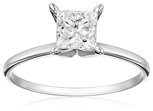 IGI-Certified-14k-White-Gold-Princess-Cut-Diamond-Solitaire-Engagement-Ring-1-carat-I-J-Color-I1-I2-Clarity