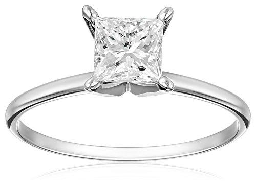 IGI-Certified-14k-White-Gold-Princess-Cut-Diamond-Solitaire-Engagement-Ring-1-carat-I-J-Color-I1-I2-Clarity