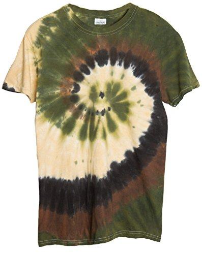 Swirl Tie Dye Shirt (Ragstock Tie Dye T-Shirt, Camo-Swirl - M)