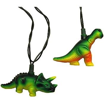 Kurt Adler UL 10-Light T-Rex and Styracosaurus Light Set